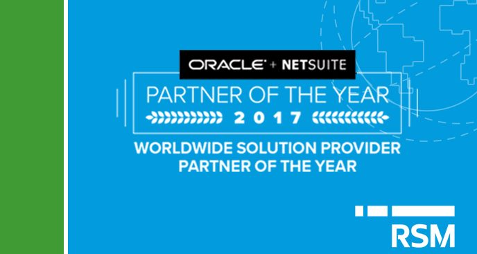 RSM now a five-time winner of Netsuite 's Partner of the Year award