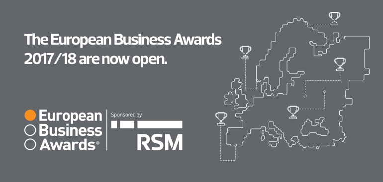 Inscripción abierta para los European Business Awards 2017-18