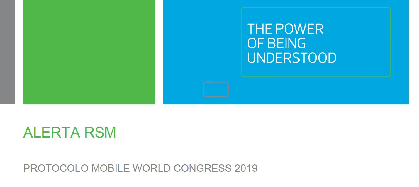Protocolo Mobile World Congress 2019
