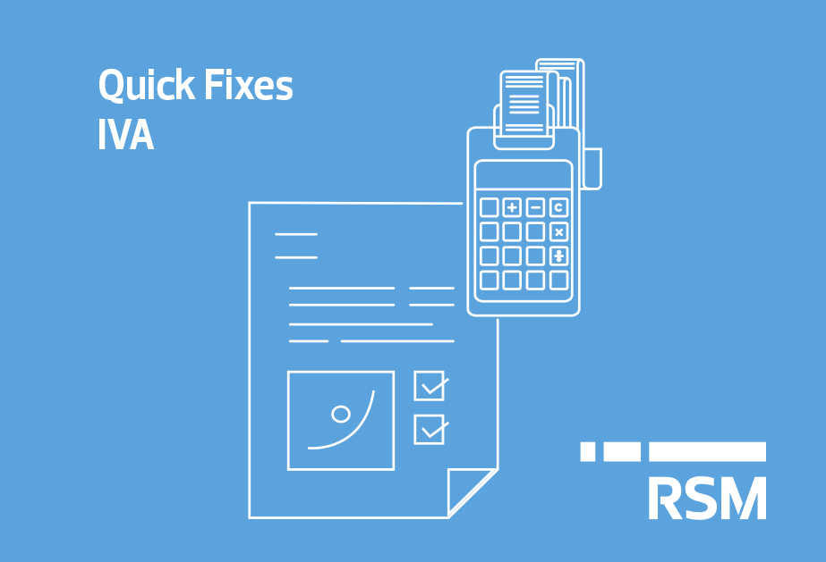 Quick Fixes – IVA